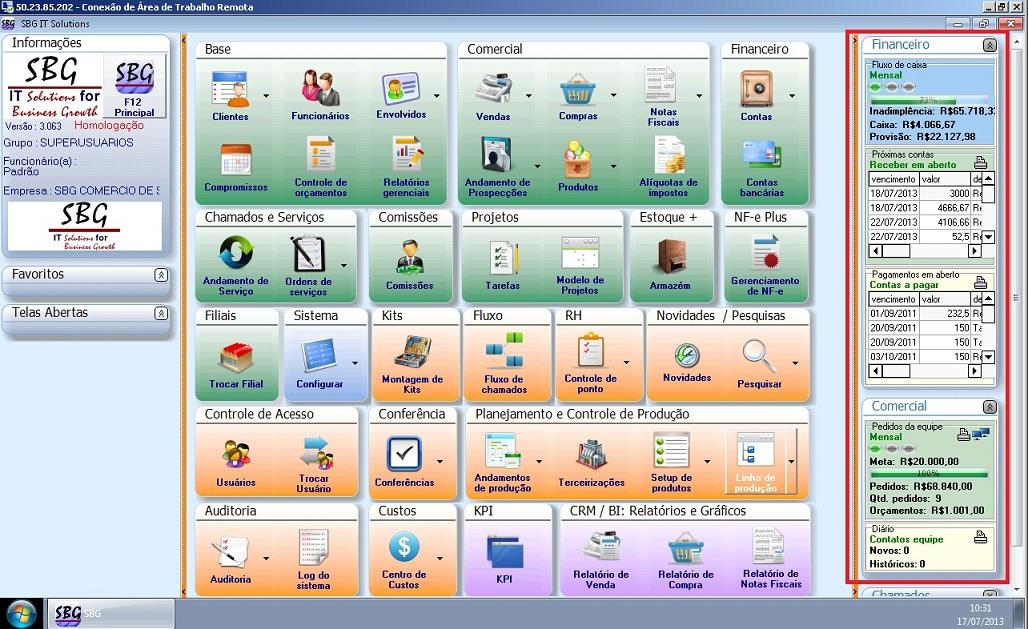 Sistema de Gestão ERP Indicador Performance KPI - Software Gestão ERP Indicador Performance KPI