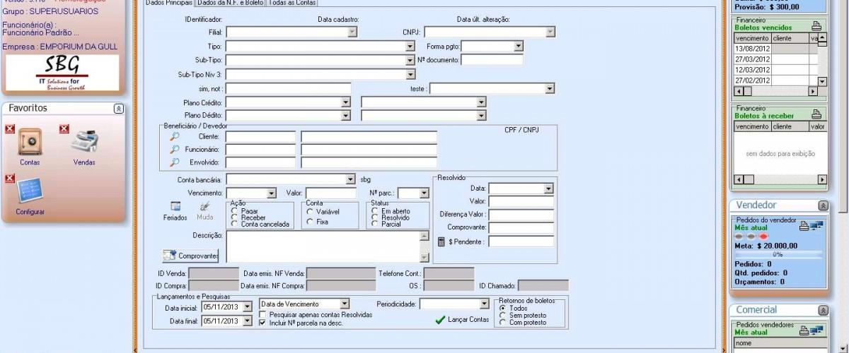 Novidades da Versão 3.110 do Sistema de Gestão ERP Empresarial da SBG